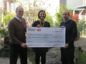Cheque handed over to Chestnut Tree House