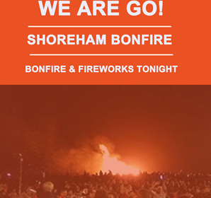 Shoreham Bonfire is on tonight